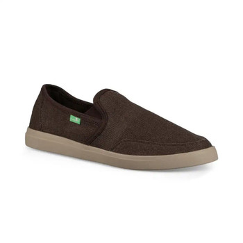 Sanuk Vagabond Slip On Wide Shoe - Brown