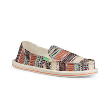 Sanuk Donna Tribal Sidewalk Surfers - Natural Multi
