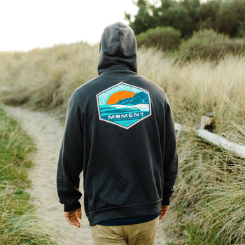 Moment Sunset Cape Pullover Hoodie - Dark Grey - Back