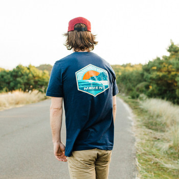 Moment Sunset Cape Tee - Navy - Back