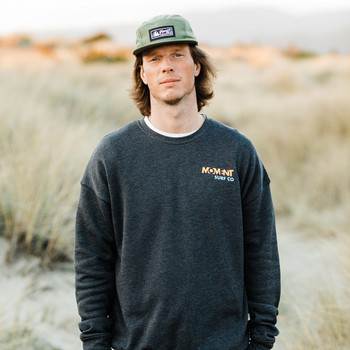 Moment Surf Camp Crew Sweatshirt - Dark Grey Heather - Front Full