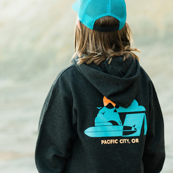 Moment Youth Surf Camp Hoodie - Charcoal Heather