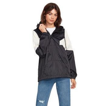 Volcom Wind Stoned Jacket - Black / White