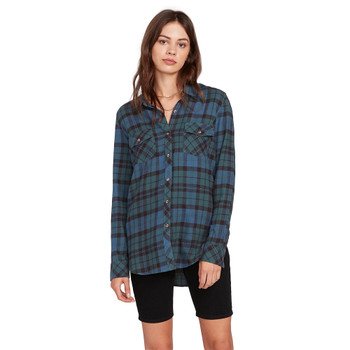 Volcom Getting Rad Plaid Flannel - Emerald Green