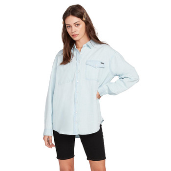 Volcom Sunday Strut Long Sleeve Top - Sun Faded Indigo