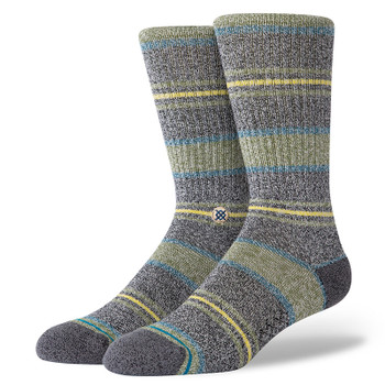 Stance Defeat Crew Sock - Green