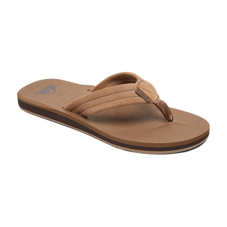 Quiksilver Carver Suede Youth Sandal - Tan