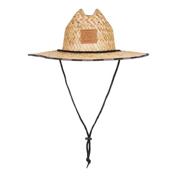 Quiksilver Outsider Straw Hat - Black Checkers