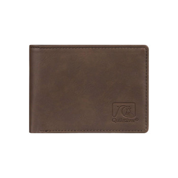 Quiksilver Slim Vintage IV Wallet - Chocolate Brown - Front