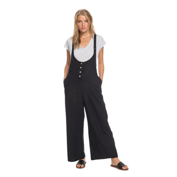 Roxy Pink Frost Dundaree-Style Jumpsuit - Anthracite