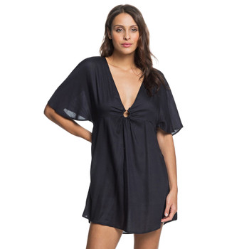 Roxy Timeless Lover Mid Sleeve Beach Cover up - Anthracite