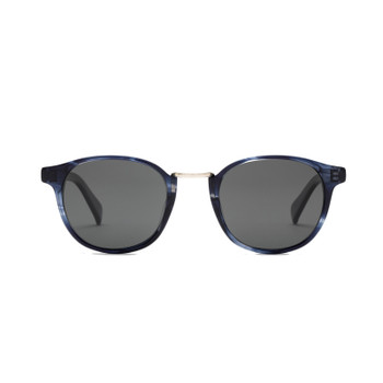 Otis A Day Late Sunglasses - Trans Blue Waves / Smokey Blue / Polar