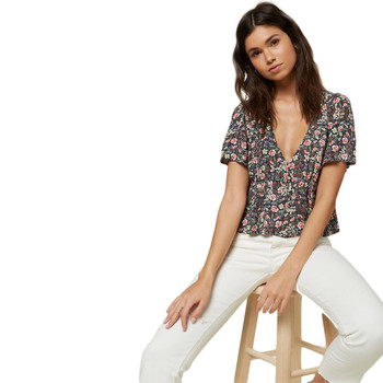 O'Neill Wes Floral Top - Abyss