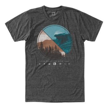 Hippytree Lens Tee - Heather Charcoal