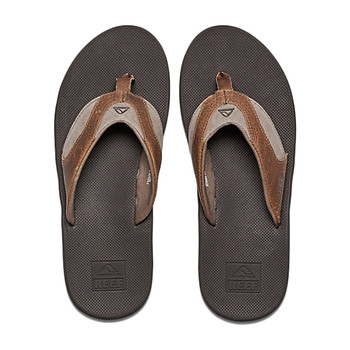Reef Leather Fanning Sandal - Brown / Brown