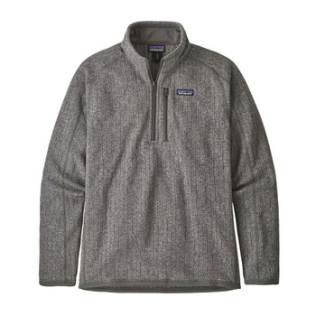 Patagonia Men's Better Sweater Rib Knit 1/4 Zip Fleece- Stonewash
