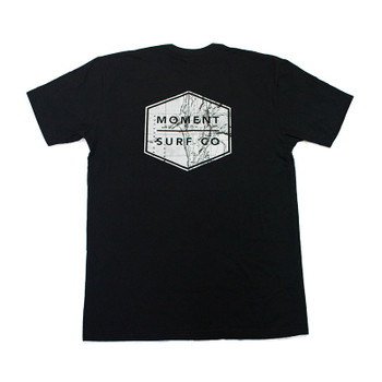 Moment Boxed Logo Tee - Black / Topo