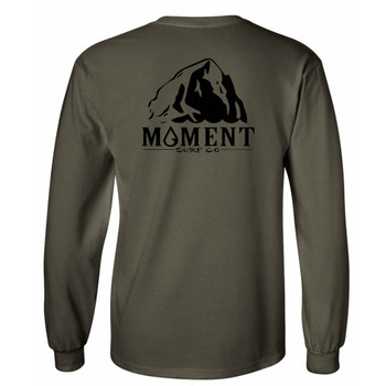 Moment Haystack L/S Tee - Military - Back