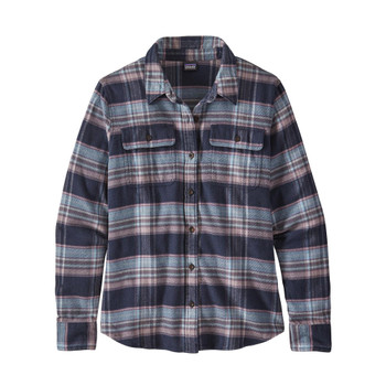 Patagonia Women's L/S Fjord Flannel - Cabin Time: Smolder Blue