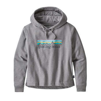 Patagonia Women's Pastel P-6 Logo Uprisal Hoody - Gravel Heather
