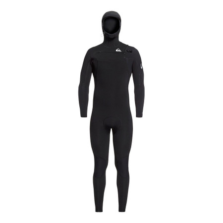Quiksilver Syncro 5/4/3 CZ GBS Hooded Wetsuit - Black / Silver