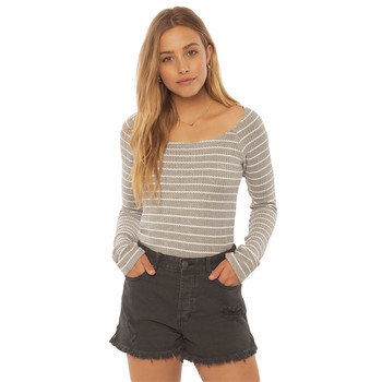 SisstrEvolution Hazy Days Knit Top - Grey Heather