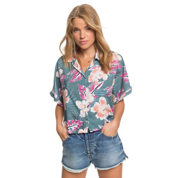 Roxy Possible Maybe Boxy Short Sleeve Shirt - North Atlantic Heritage Hawaii