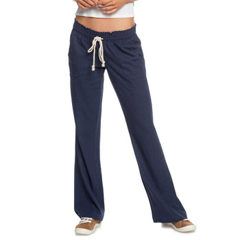 Roxy Oceanside Flared Beach Pants - Mood Indigo - 3