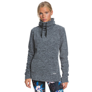 Roxy Snow Flakes Vibes High Collar Polar Fleece - Anthracite