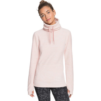 Roxy Snow Flakes Vibes High Collar Polar Fleece - Silver Pink