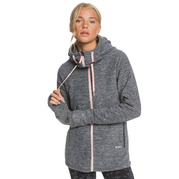 Roxy Electric Feeling ZipUp Polar Fleece Hoodie - Anthracite