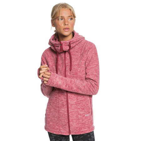 Roxy Electric Feeling ZipUp Polar Fleece Hoodie - Tibetan Red