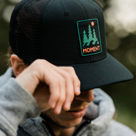 Moment Trees And Waves Hat - All Black