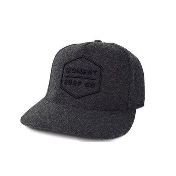 Moment Boxed Logo Hat - Heather Charcoal / Black
