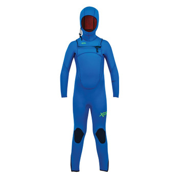 Xcel Youth Comp Hooded 4.5/3.5 Wetsuit - Faint Blue