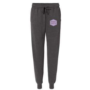 Moment Women's Boxed Logo Sweatpant - Shadow / Lilac