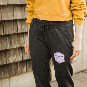 Moment Women's Boxed Logo Sweatpant - Shadow / Lilac - Front