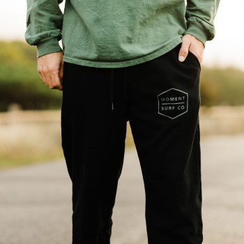 Moment Boxed Logo Sweatpant - Black / Grey