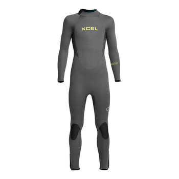 Xcel Youth Axis Back Zip 5/4 Wetsuit - Grey