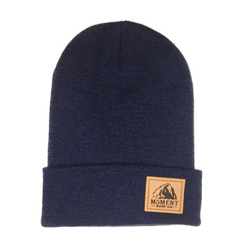 Moment Haystack Beanie - Heather Navy