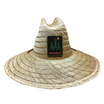 Moment Lifeguard Trees & Waves Logo Straw Sun Hat
