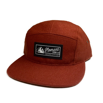 Moment PC Rock 5-Panel Wool Hat - Rust