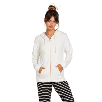 Volcom Lived In Lounge Zip Fleece - White