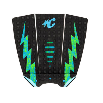 Creatures of Leisure Mick Eugene  Fanning Lite Small Wave Traction - Black / Cyan / Green Swirl