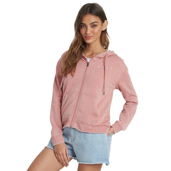 Roxy Go For It A Zip Up Hoodie - Ash Rose