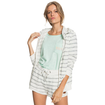 Roxy Perfect Wave Zip Up Hoodie - Snow White Horizon Will Stripes