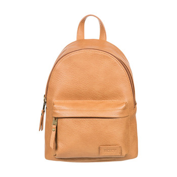 Roxy Drunk In Love Faux Leather Backpack - Toasted Nut