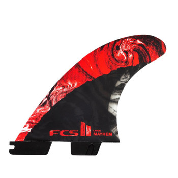 FCS II MB PC Carbon Large Tri Fin Set - Red
