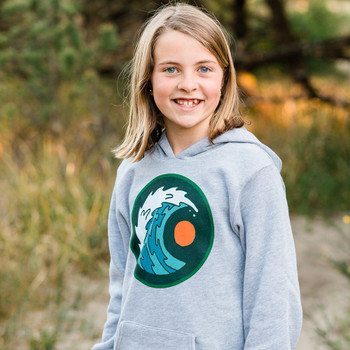 Moment Youth Moon & Wave Pullover Hoodie - Athletic Heather