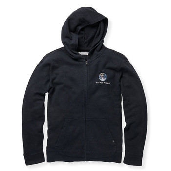 Outerknown Don't Fuck This Up Zip Hoodie - Pitch Black